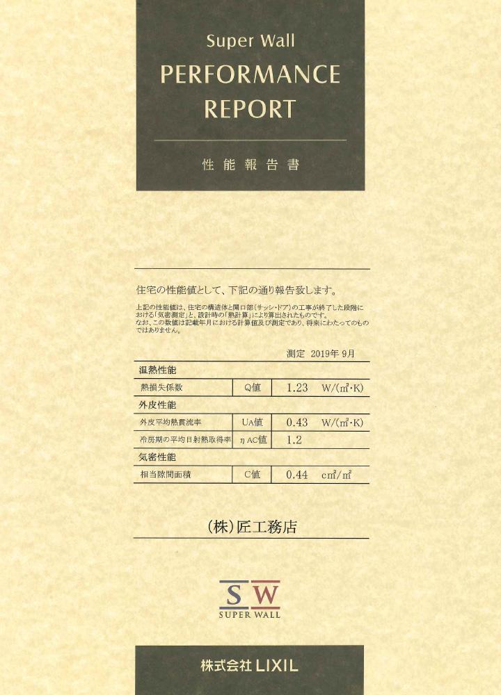 本原町性能報告書