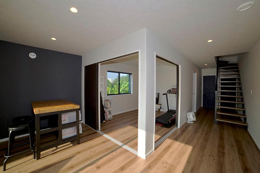 収納を備えたブルックリンスタイルの家